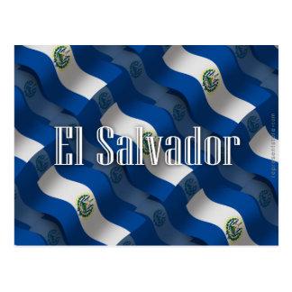 Drapeau de ondulation du Salvador Carte Postale