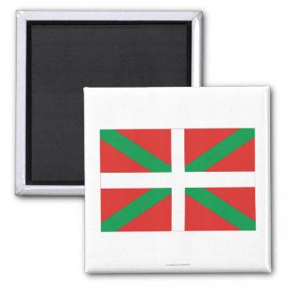 Drapeau de País Vasco (Euskadi) Magnet Carré
