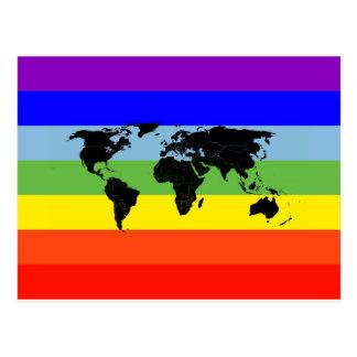 Drapeau de paix du monde carte postale