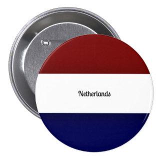 Drapeau de Pays-Bas Badge Rond 7,6 Cm