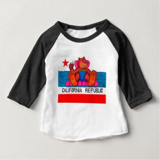 Drapeau de pieds d'ours de la Californie T-shirt Pour Bébé