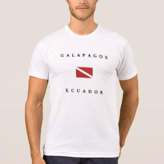 Drapeau de piqué de Galapagos Equateur T-shirt