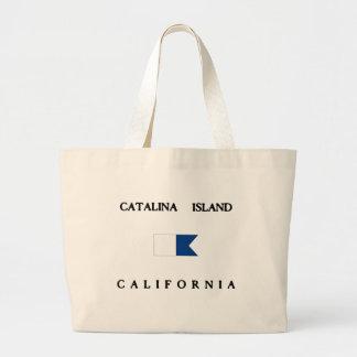 Drapeau de piqué de la Californie d'île de Grand Sac