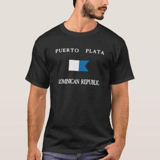 Drapeau de piqué de la République Dominicaine de T-shirt