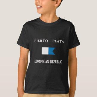 Drapeau de piqué de la République Dominicaine de T-shirts