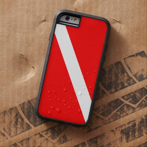 Drapeau de piqué de plongée à l'air coque iPhone 6 tough xtreme