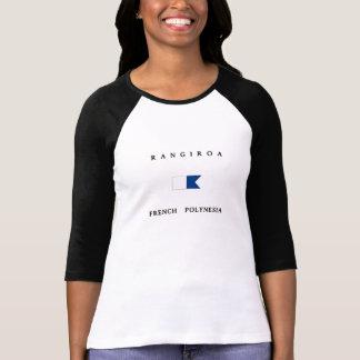 Drapeau de piqué de Polynésie française de T-shirt