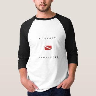 Drapeau de piqué de scaphandre de Boracay T-shirts