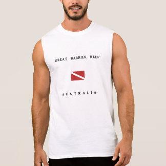 Drapeau de piqué de scaphandre de la Grande T-shirt Sans Manches