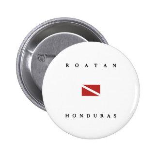 Drapeau de piqué de scaphandre de Roatan Honduras Badges
