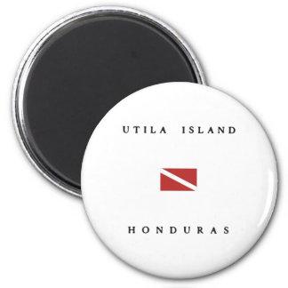 Drapeau de piqué de scaphandre du Honduras d'île Magnet Rond 8 Cm