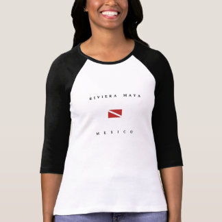 Drapeau de piqué de scaphandre du Mexique de Maya T-shirt
