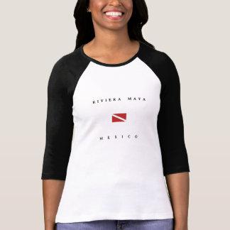 Drapeau de piqué de scaphandre du Mexique de Maya T-shirts