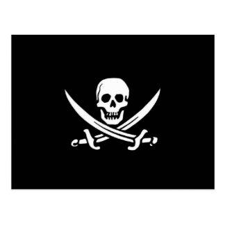 Drapeau de pirate carte postale