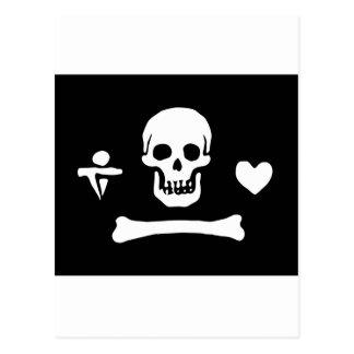 Drapeau de pirate de capot de Stede Cartes Postales