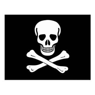 Drapeau de pirate de jolly roger carte postale