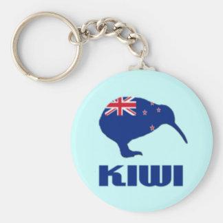 Drapeau de porte - clé de kiwi de la Nouvelle Porte-clé Rond
