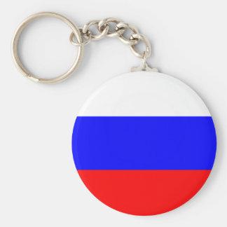 Drapeau de porte - clé de la Russie Porte-clé Rond