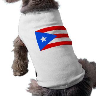 Drapeau de Porto Rico T-shirt Pour Chien