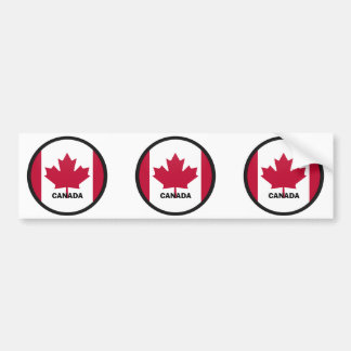 Drapeau de qualité de rondeau du Canada Autocollant De Voiture