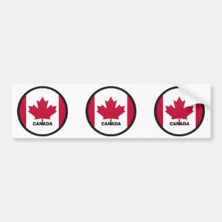 Drapeau de qualité de rondeau du Canada Adhésifs Pour Voiture