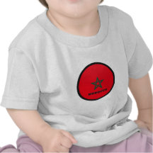 Drapeau de qualité de rondeau du Maroc T-shirt