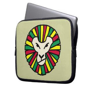 Drapeau de Rastafarian de lion Housses Pour Ordinateur Portable