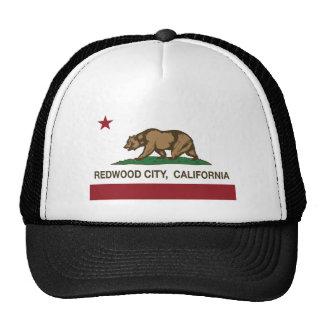 drapeau de Redwood City la Californie Casquettes De Camionneur