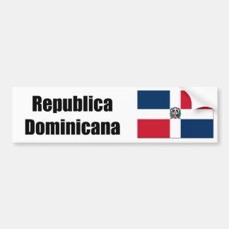 Drapeau de Republica Domincana D.R> Autocollant De Voiture