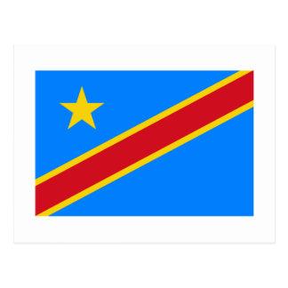Drapeau de République Democratic du Congo Carte Postale