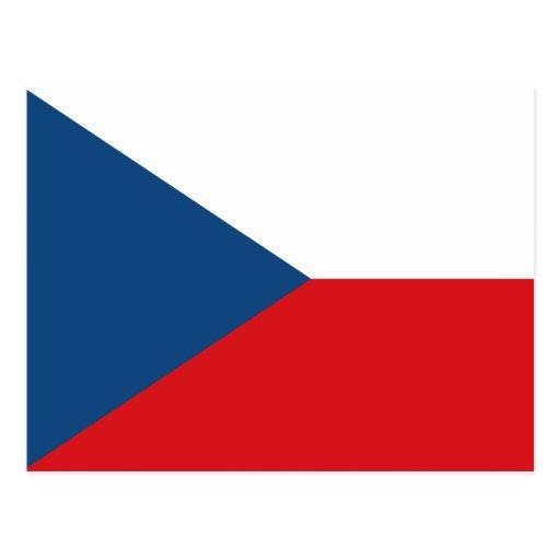 Drapeau de République Tchèque Carte Postale