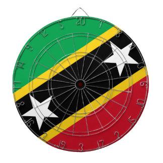 Drapeau de saint Kitts et Niévès - Kittitian Jeux De Fléchettes