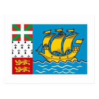 Drapeau de Saint-Pierre-et-Miquelon Carte Postale