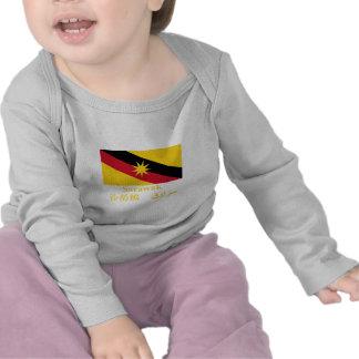 Drapeau de Sarawak avec le nom T-shirts