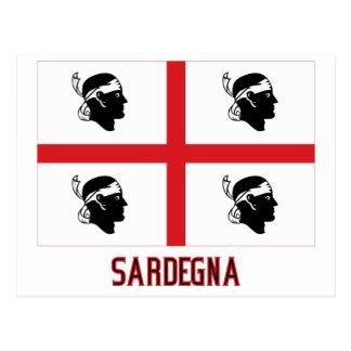 Drapeau de Sardegna avec le nom Carte Postale