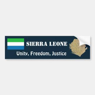 Drapeau de Sierra Leone + Adhésif pour pare-chocs  Autocollant De Voiture