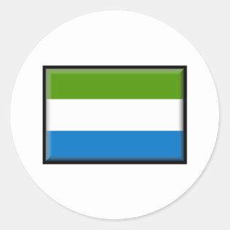 Drapeau de Sierra Leone Adhésif Rond