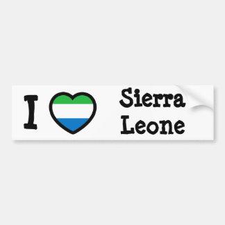Drapeau de Sierra Leone Autocollant De Voiture