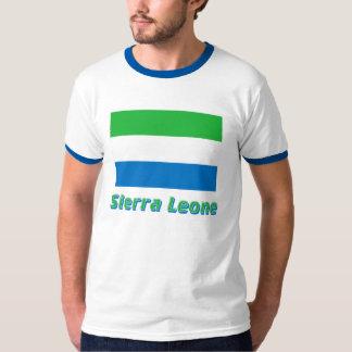 Drapeau de Sierra Leone avec le nom T-shirt