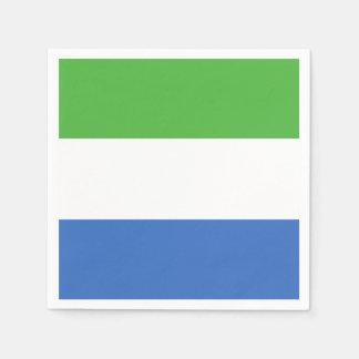Drapeau de Sierra Leone Serviette En Papier