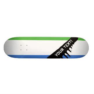 Drapeau de Sierra Leone Skateboards Personnalisables