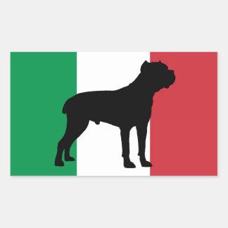 drapeau de silhouette de corso de canne sticker rectangulaire