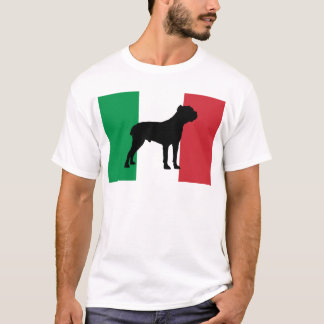 drapeau de silhouette de corso de canne t-shirt