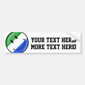 Drapeau de sourire de Sierra Leone Autocollant Pour Voiture