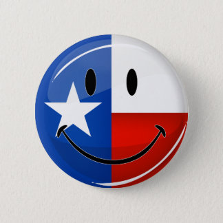 Drapeau de sourire du Texas Badge