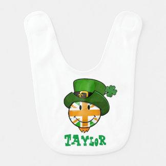 Drapeau de sourire d'Union Jack d'Irlandais dans Bavoir De Bébé