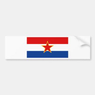 Drapeau de SR Croatie Autocollant De Voiture