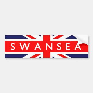 Drapeau de Swansea R-U Autocollant Pour Voiture