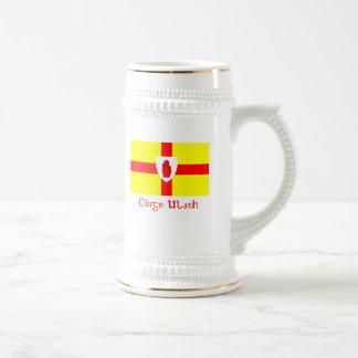 Drapeau de tasse de bière d'Ulster