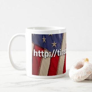 Drapeau de tasse de café fatigué de gagner le RU